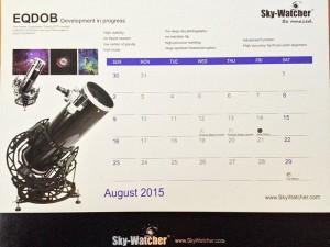 Im Kalender angekündigt, kam dann doch nicht auf den Markt: die SkyWatcher Dobson-Hufeisenaufhängung EQ-DOB