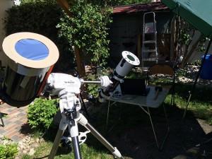 Aufbau der Sonnenteleskope