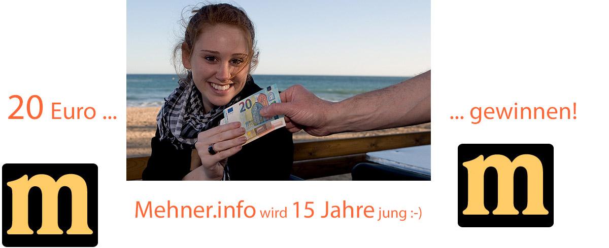 Achtung, Mehner.info wird 15!