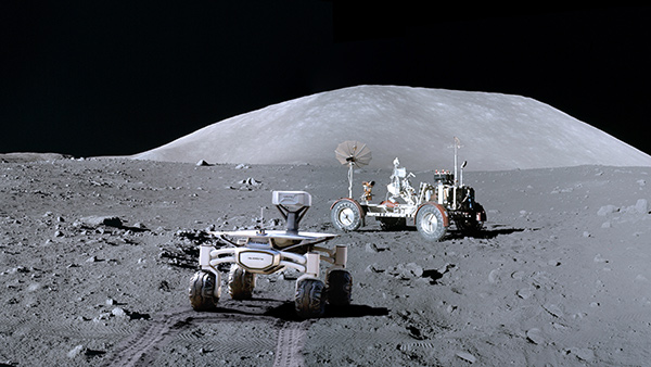 """ALQ at Apollo 17 Artwork"" – so stellen sich die PTScientists ihren Mondrover in Aktion vor."